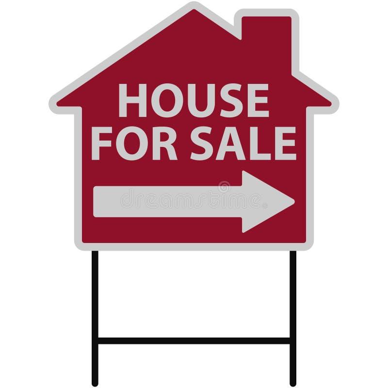 Chambre à vendre l'illustration de signe illustration libre de droits