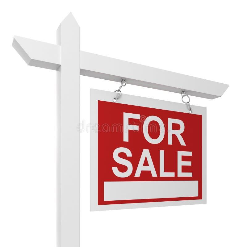 Chambre à vendre le signe illustration de vecteur