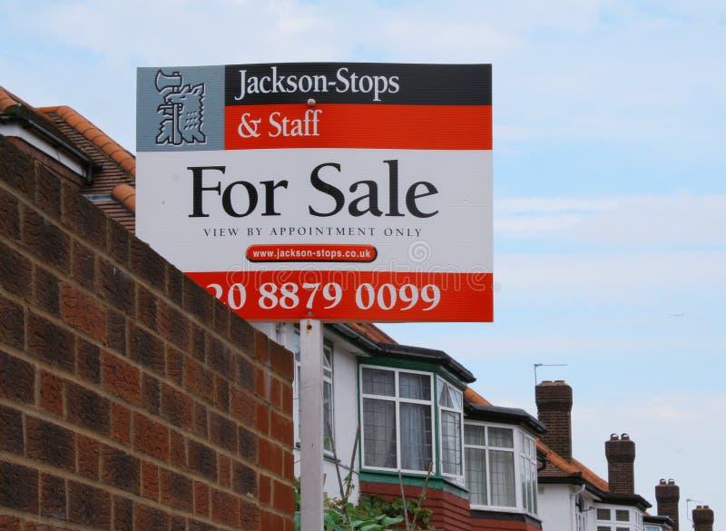 Chambre à vendre le signe image libre de droits
