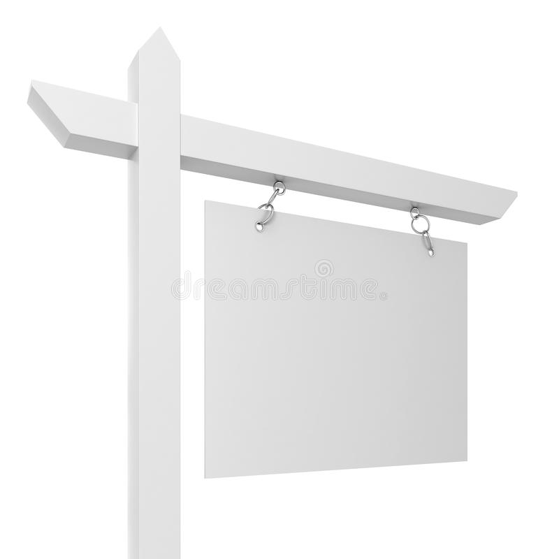 Chambre à vendre le signe de blanc illustration stock