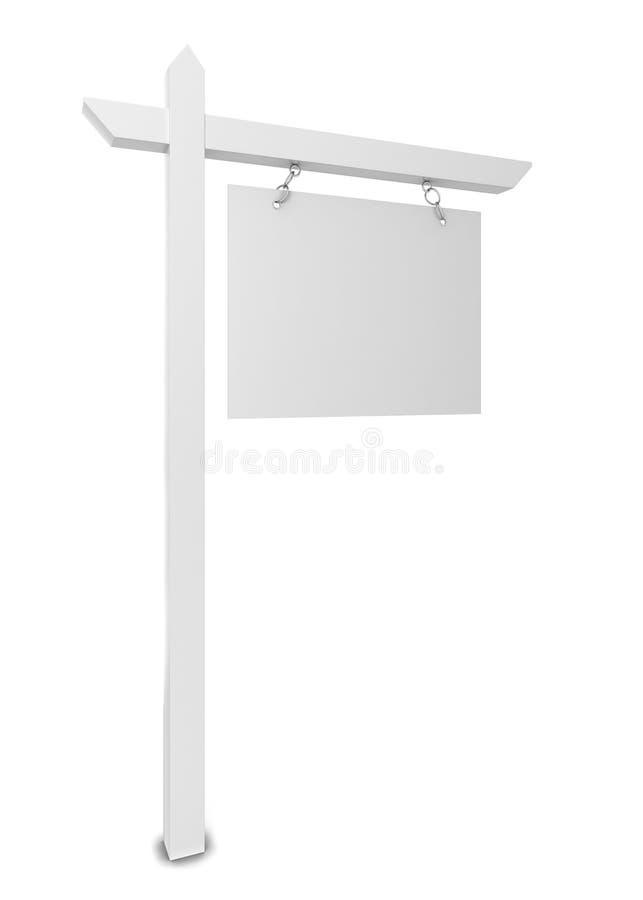 Chambre à vendre le signe de blanc illustration de vecteur