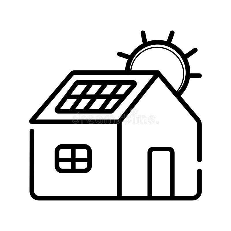 Chambre - énergie solaire illustration libre de droits