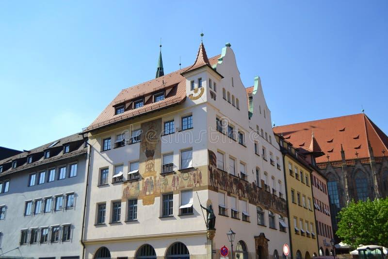 Chambre au centre de Nuremberg image libre de droits
