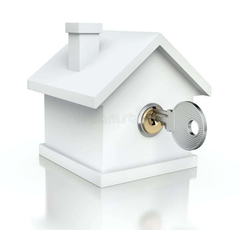 Chambre avec la clé illustration stock