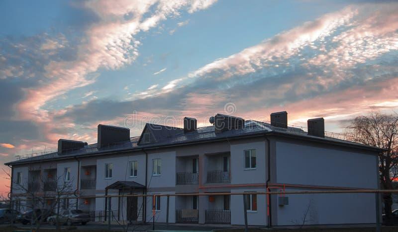 Chambre, bâtiment, coût, maison, immobiliers, beaux, brique, brique grande, blanche, brique, bâtiment, photo libre de droits
