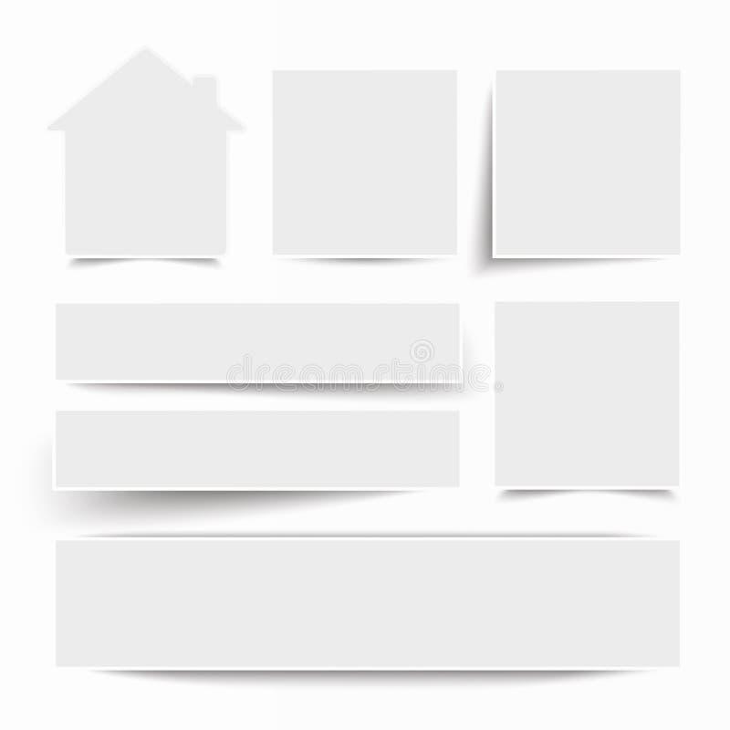 Chambre blanche de bannières de cadre illustration de vecteur