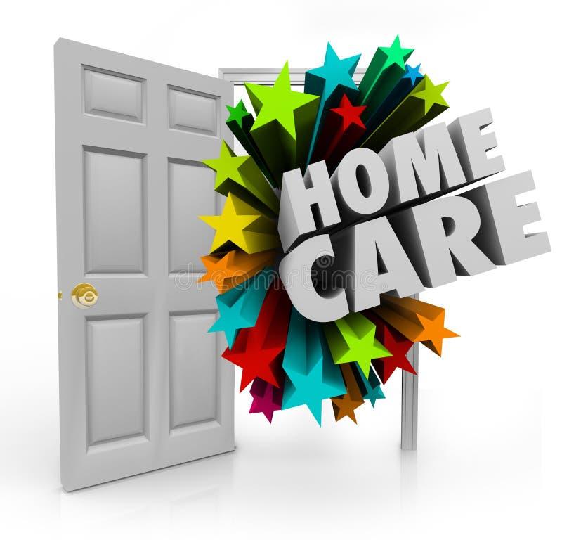 Chambre calorie de traitement de physiothérapie d'hospice de porte ouverte de soins à domicile illustration libre de droits