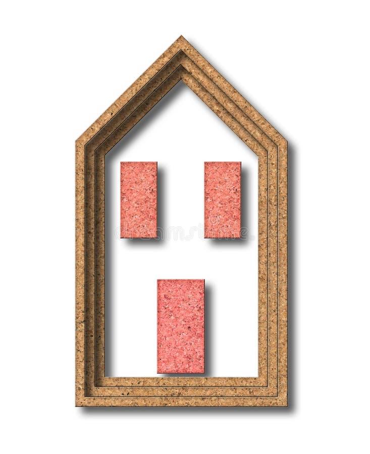 Chambre construite avec du liège - imag de concept de rendement énergétique de bâtiments photo stock