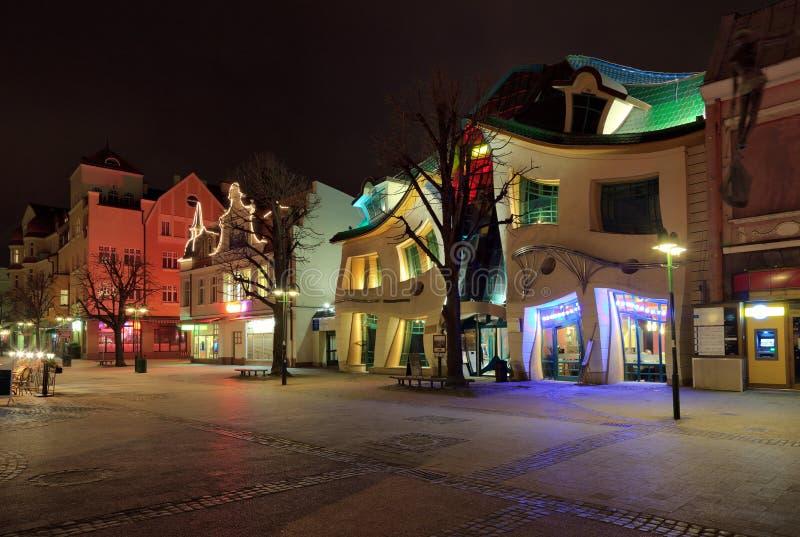 Chambre courbée dans Sopot photos libres de droits