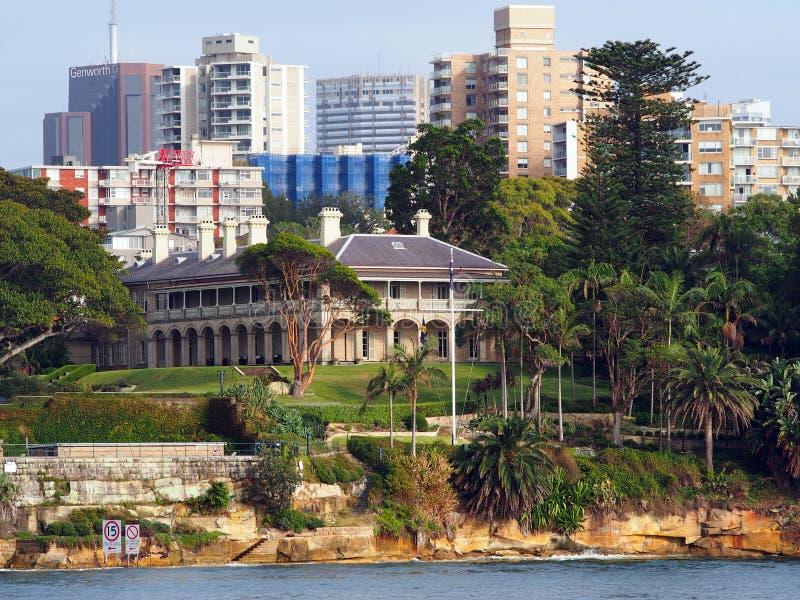 Chambre d'Amirauté, Kirribilli, Sydney, Australie photo libre de droits