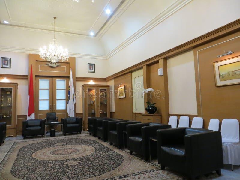 Chambre d'amis à la ville hôtel de Jakarta photographie stock