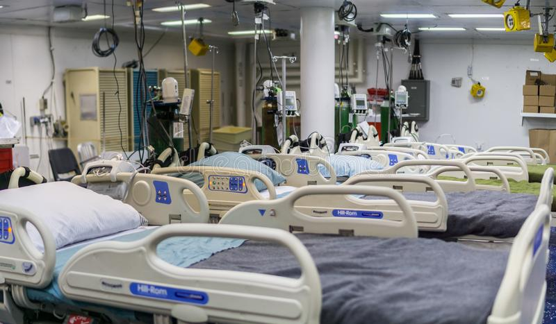Chambre d'hôpital sur un bateau photos stock