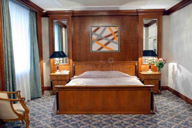 Chambre d'hôtel/chambre à coucher image libre de droits