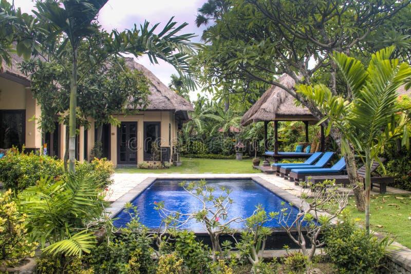 Chambre d'hôtel de fantaisie dans Bali, Indonésie images libres de droits