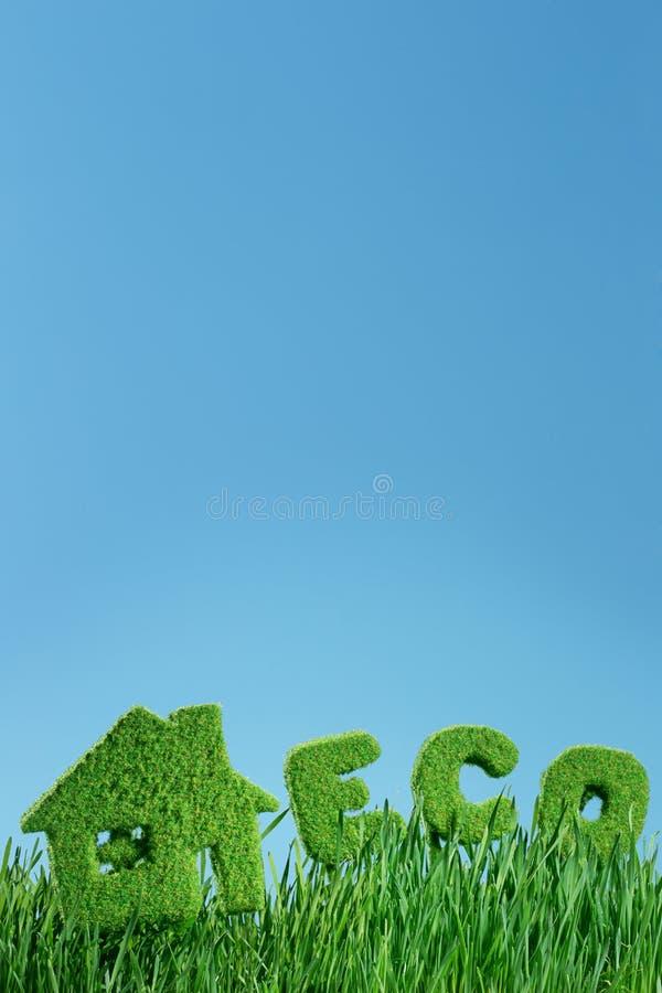 Chambre d'herbe et d'eco de mot photos stock