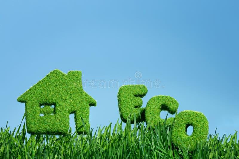 Chambre d'herbe et d'eco de mot images stock