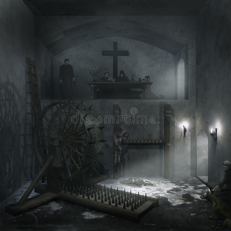 Chambre d'interrogation illustration stock