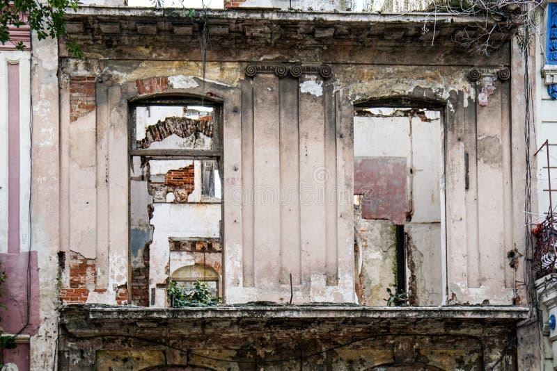 Chambre d'og de façade de taudis photographie stock