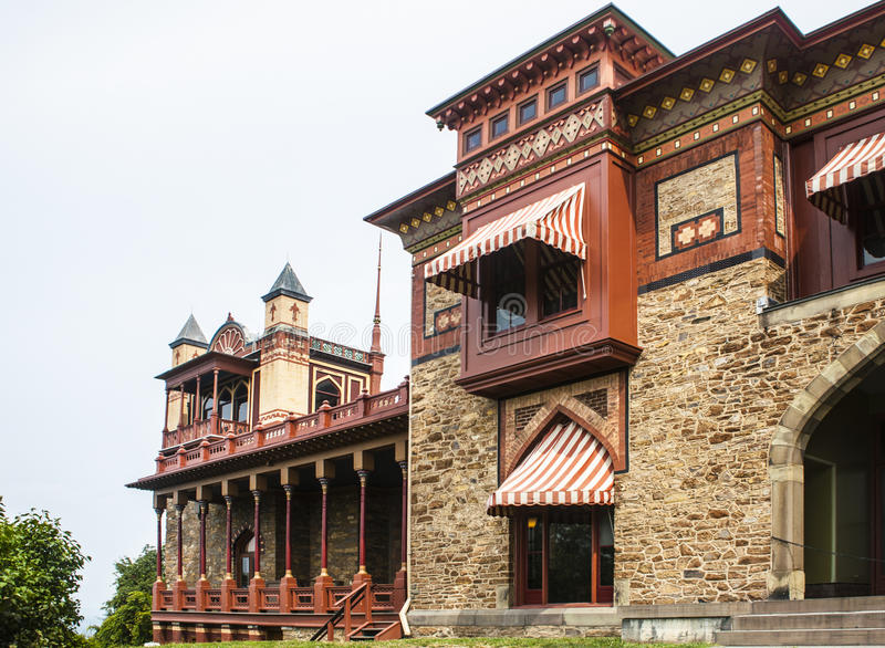 Chambre d'Olana à la vallée du fleuve Hudson images stock