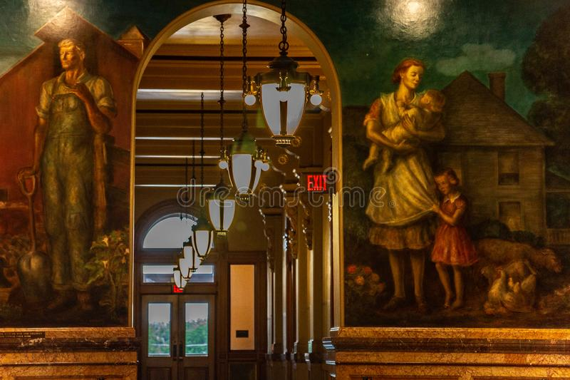 Chambre d'?tat de capitol de Topeka le Kansas photo stock