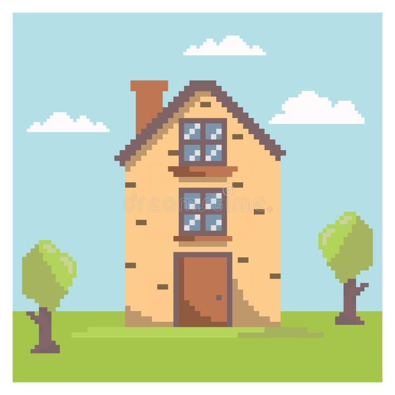 Chambre dans l'art de pixel illustration de vecteur