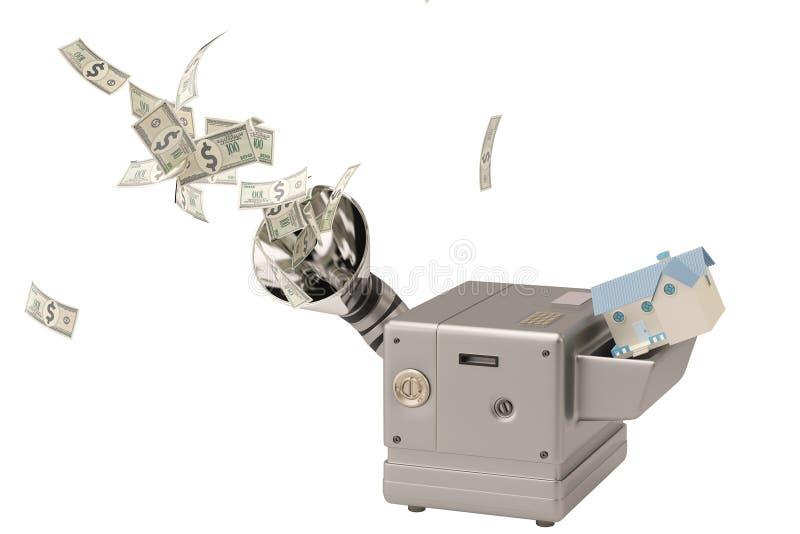Download Chambre Dans La Machine, Argent Liquide De Production Illustration 3D Illustration Stock - Illustration du dollar, dans: 87705294