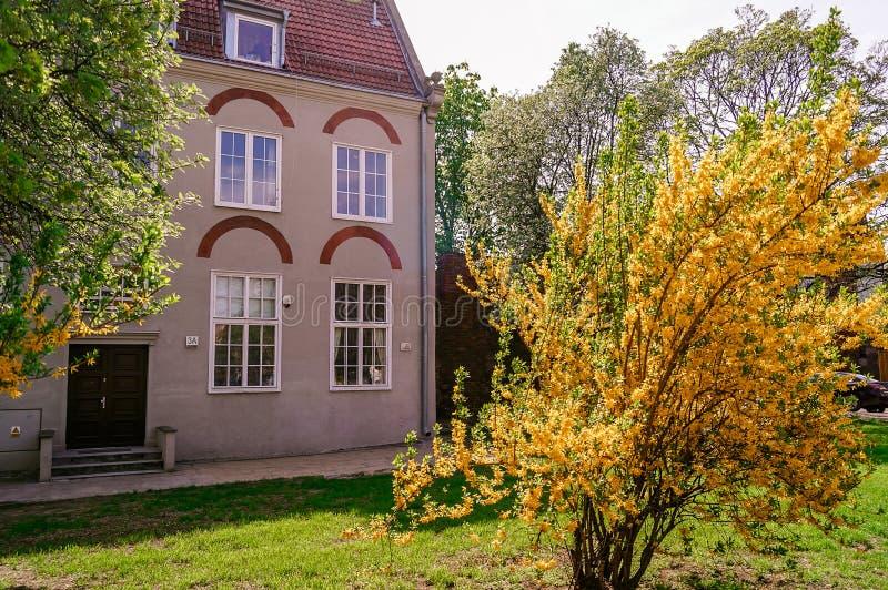 Chambre dans la vieille ville Danzig, Pologne image libre de droits