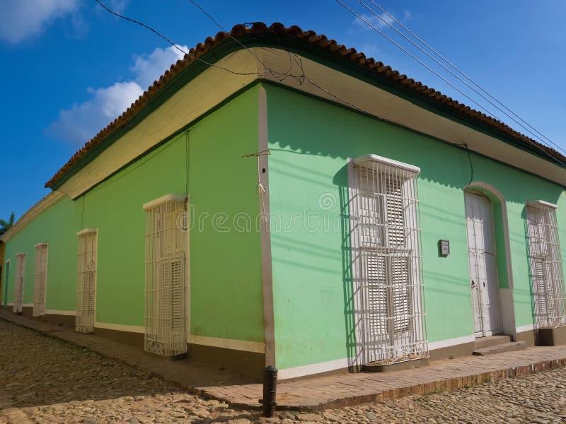 Chambre dans la ville coloniale du Trinidad au Cuba images libres de droits