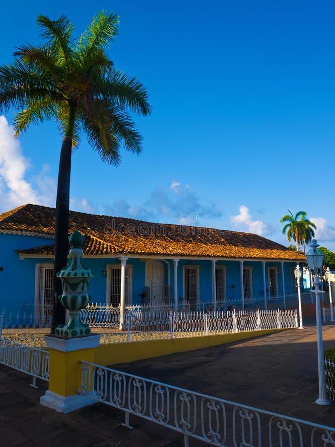 Chambre dans la ville coloniale du Trinidad au Cuba photo stock