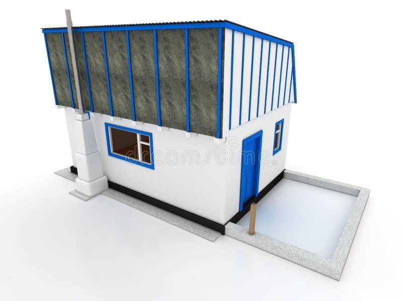 Chambre dans le village de la brique blanche â1 illustration libre de droits