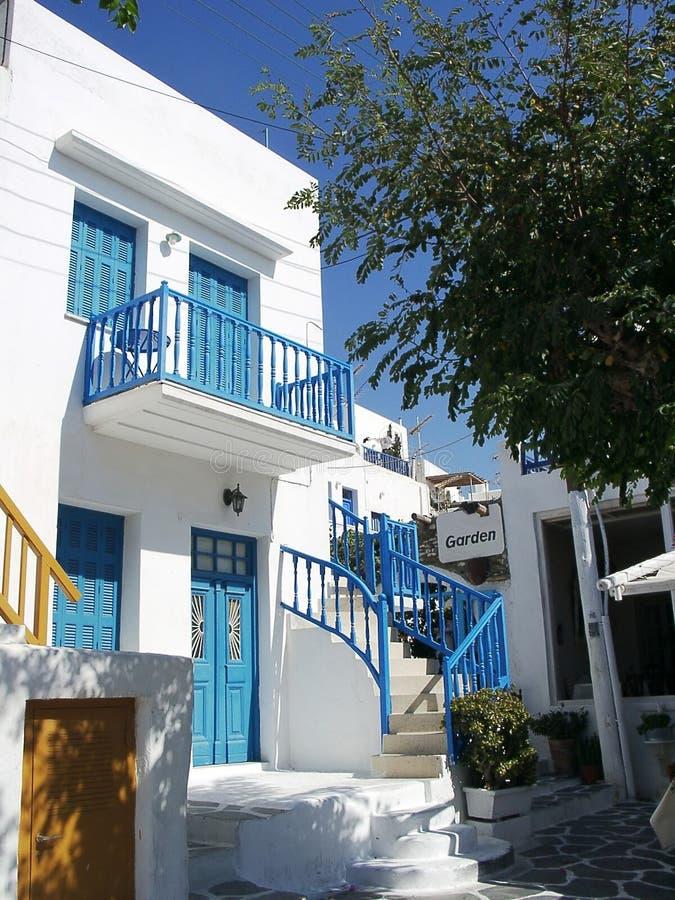 Chambre dans Mykonos image libre de droits