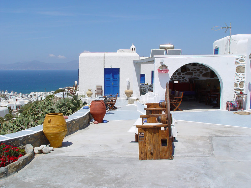 Chambre dans Mykonos photos libres de droits