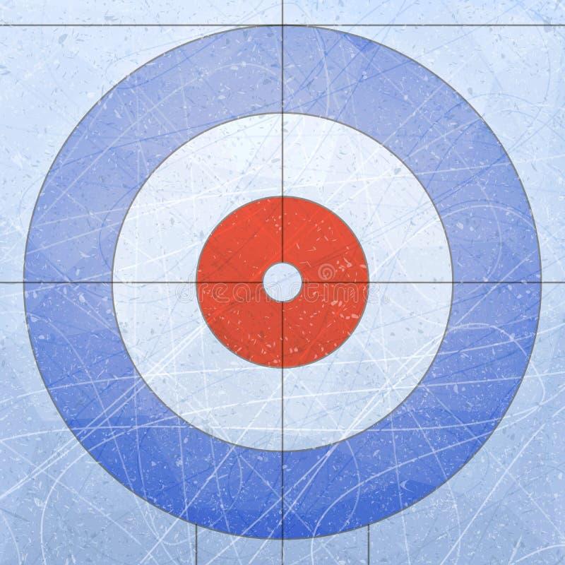 Chambre de bordage sport Donne à la glace une consistance rugueuse bleue Patinoire Fond d'illustration de vecteur illustration stock