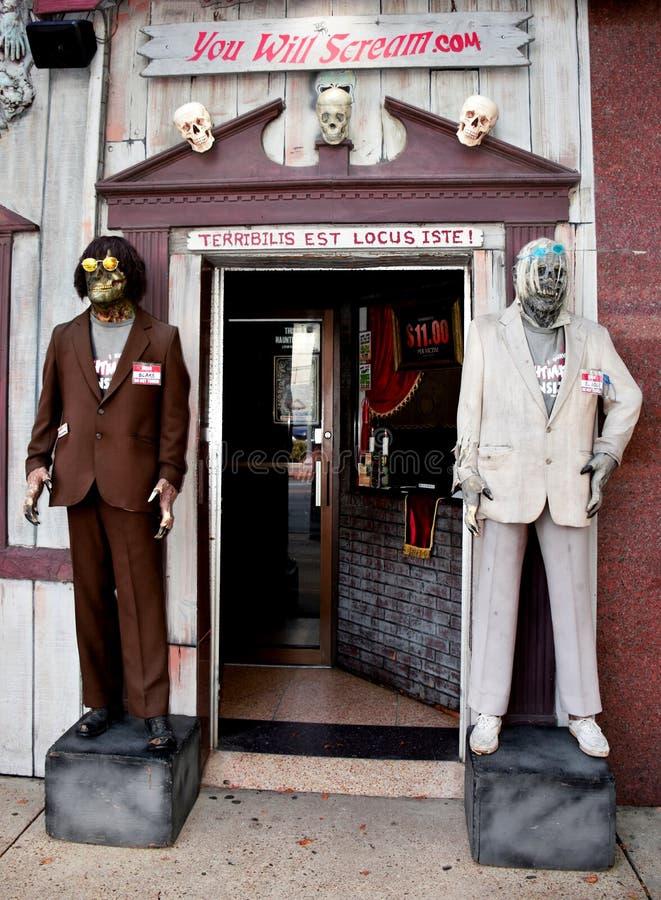 Chambre de cauchemar, Virginia Beach, la Virginie, Etats-Unis photographie stock libre de droits