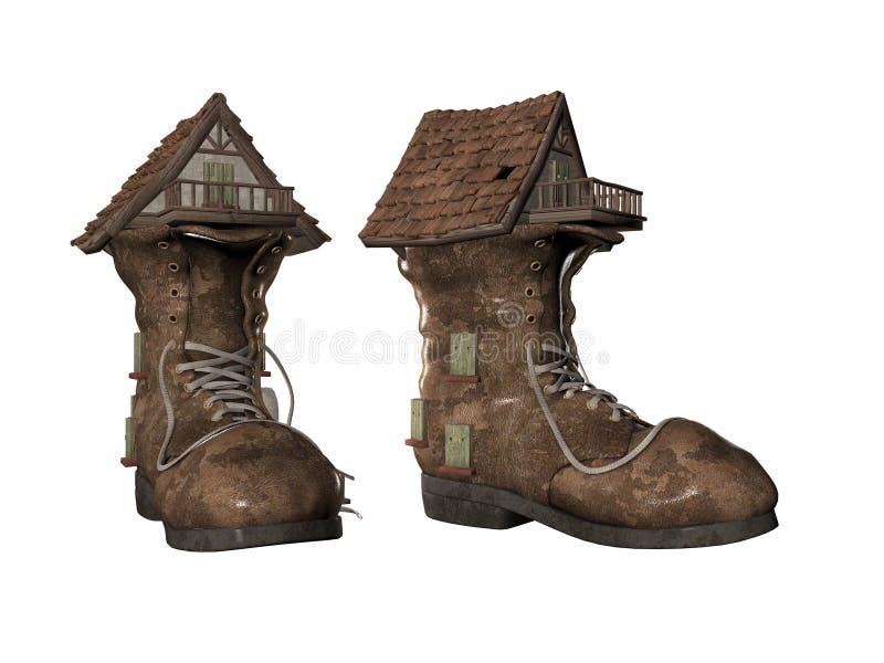 Chambre de chaussure illustration de vecteur