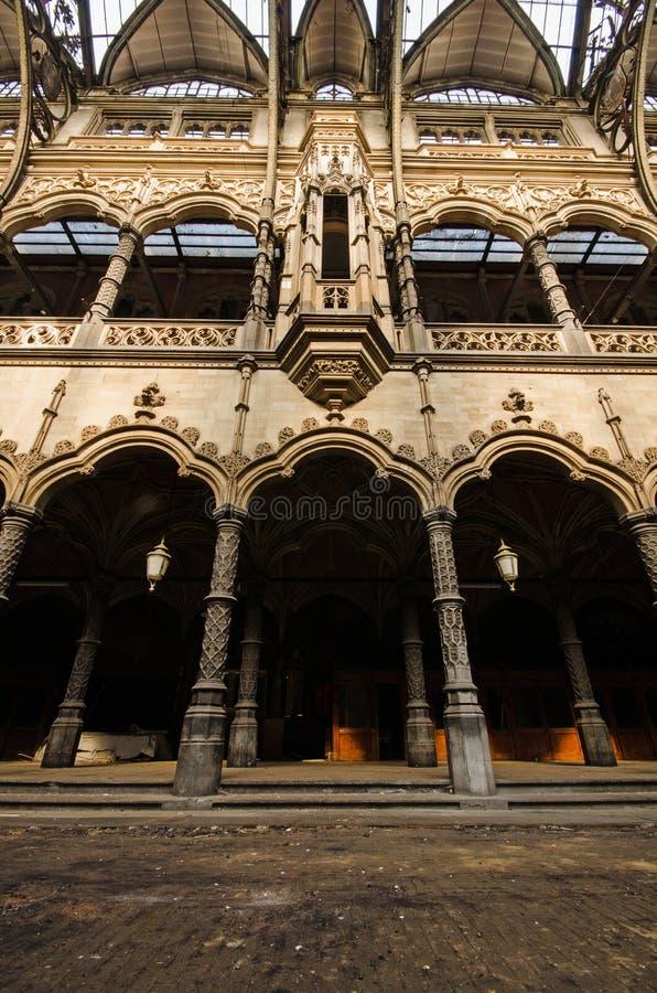 Chambre de Commerce. Abandoned stock-exchange in Antwerpen; Chambre de Commerce royalty free stock images