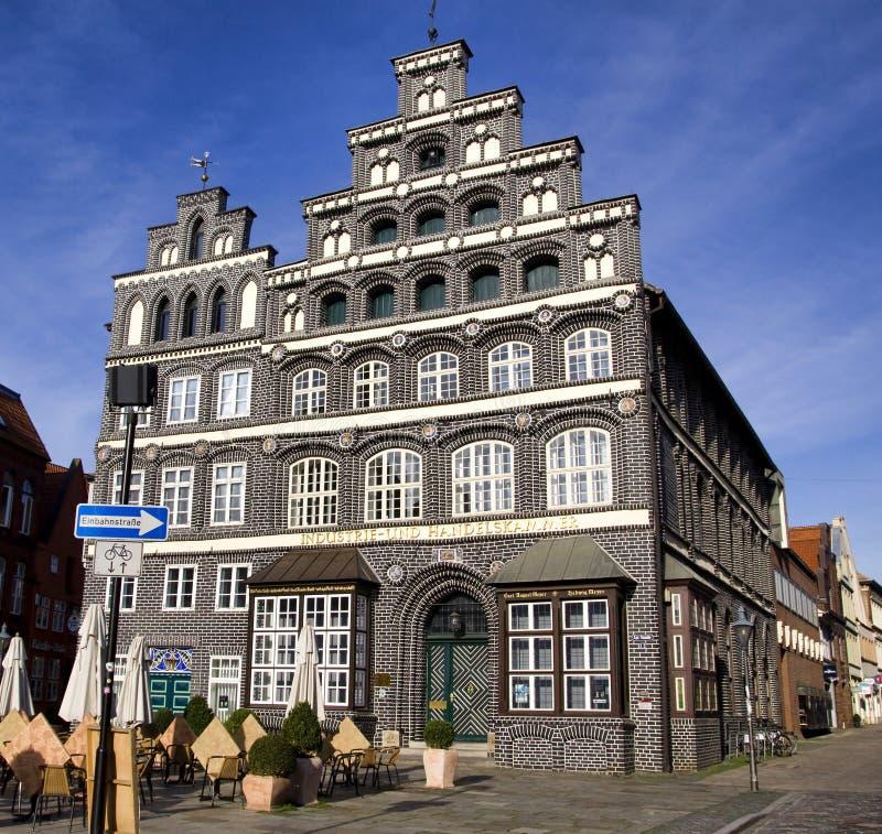 Chambre de commerce historique la construction, Lueneburg photographie stock libre de droits