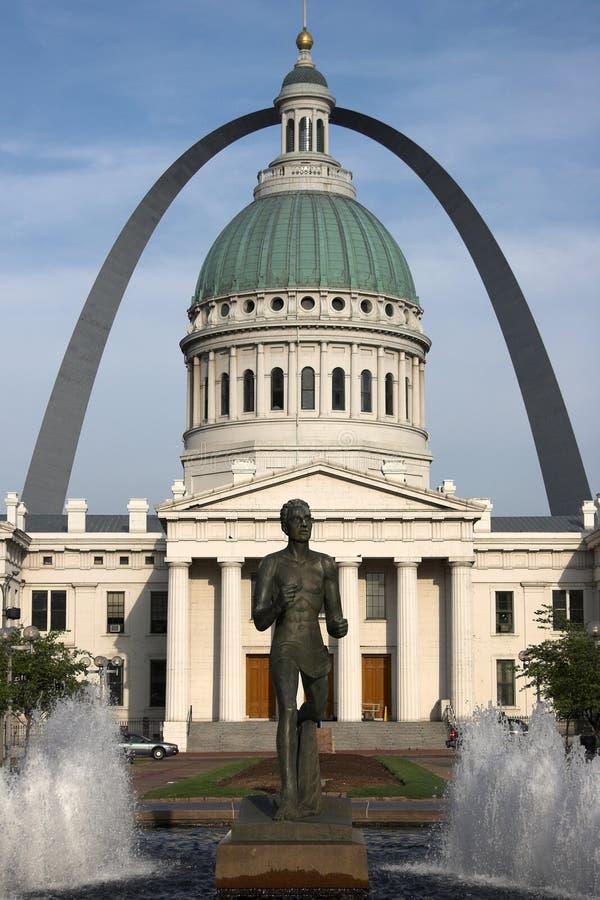 Chambre de cour d'â de St Louis photos stock