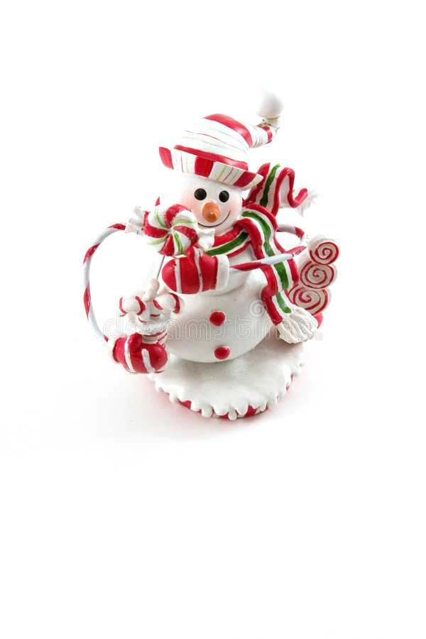 Chambre de décoration de Noël - bonhomme de neige image stock