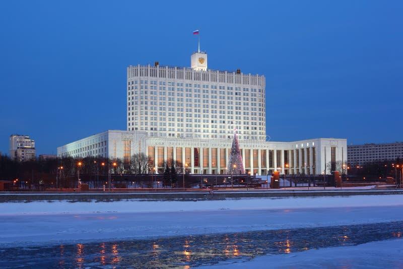 Chambre de gouvernement de Fédération de Russie à Moscou photographie stock