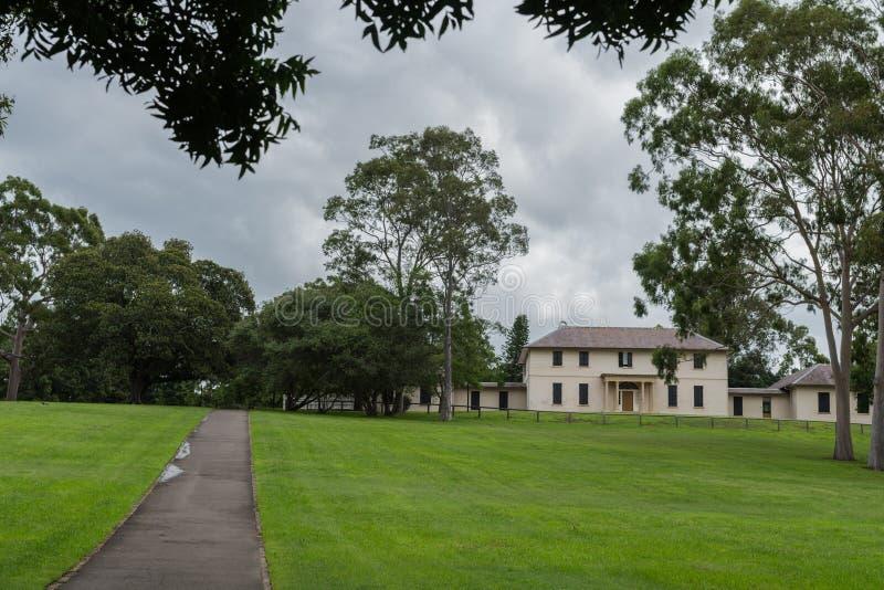 Chambre de gouvernement en parc de domaine, Australie de Parramatta photos stock