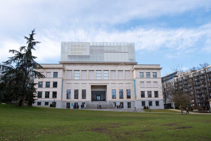 Chambre de l'histoire européenne dans Parc Leopold images libres de droits