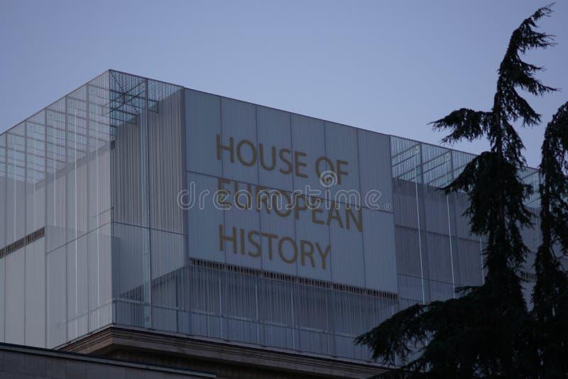 Chambre de musée européen d'histoire à Bruxelles, Belgique image libre de droits