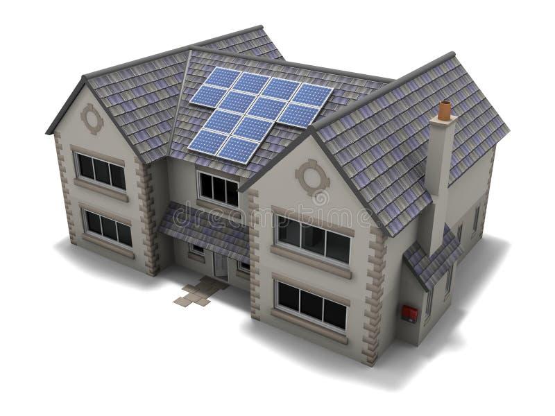 Chambre de panneau solaire illustration stock