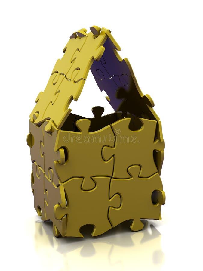 Chambre de puzzle illustration libre de droits