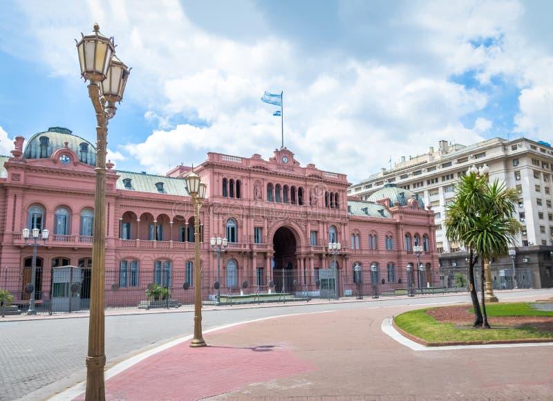 Chambre de rose de Rosada de maison, palais présidentiel argentin - Buenos Aires, Argentine photographie stock