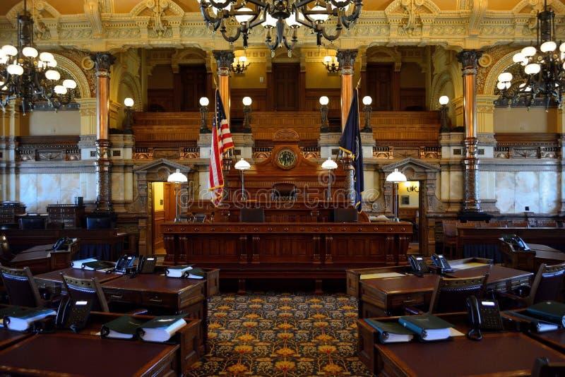 Chambre de sénat d'État du Kansas images stock