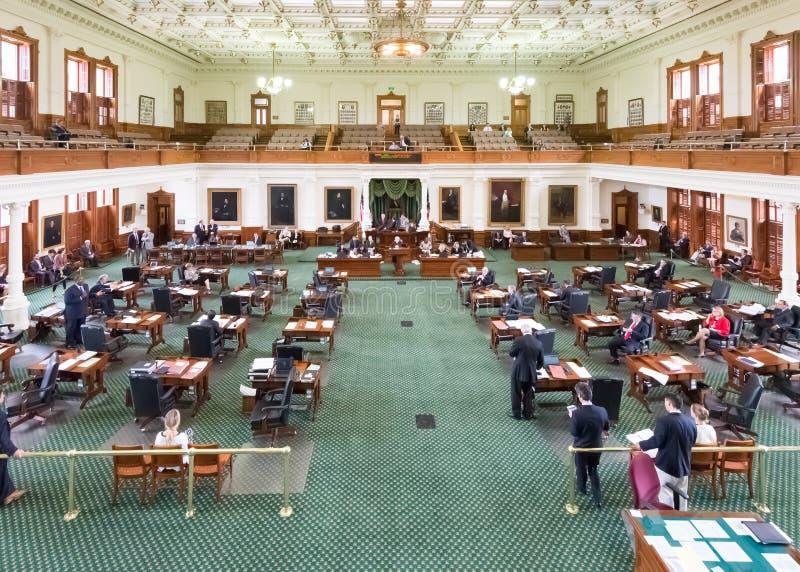 Chambre de sénat, Texas State Capitol Building photographie stock