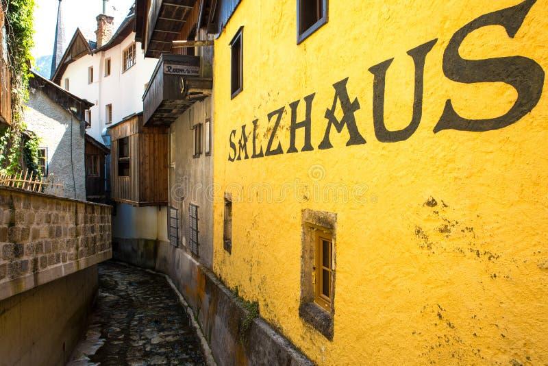 Chambre de sel de Hallstadt Autriche de village photo stock