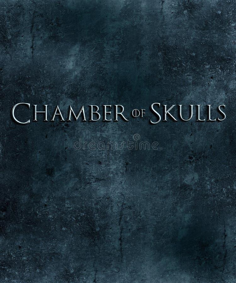 Chambre de texture originale de fond d'illustration d'affiche de crânes illustration de vecteur